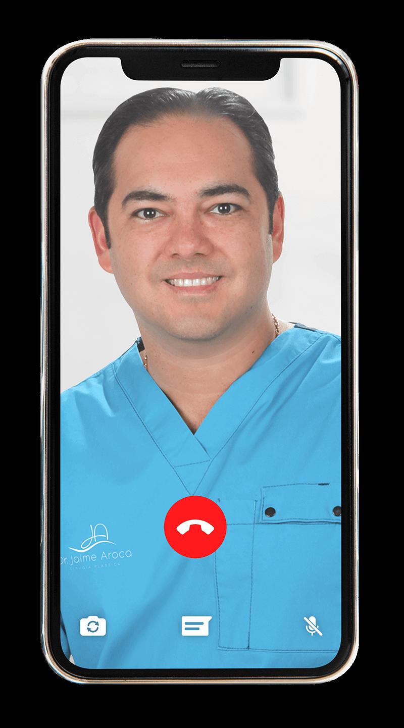 Valoración virtual doctor jaime aroca - cirujano plástico en Colombia